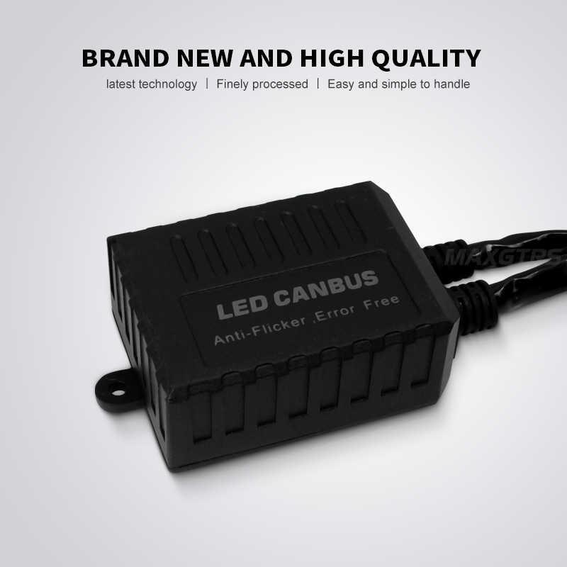 2x Super Canbus H1 H3 H4 H7 H8 H11 9005 9006 H13 Adapter EMC Warning Car LED Decoder Canceller Headlight Fog Light IC No Error