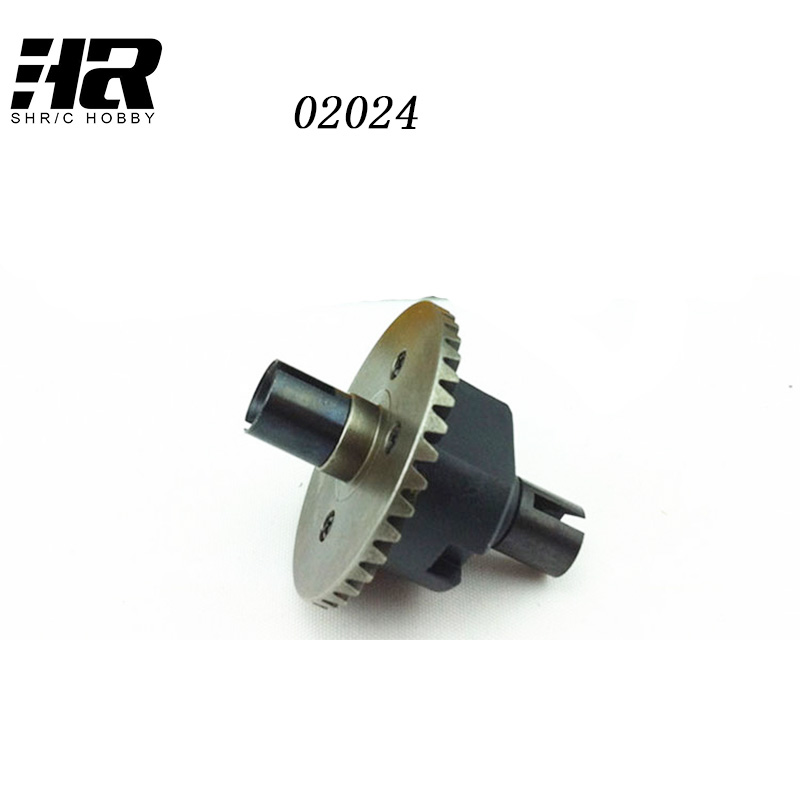 RC car 1/10 HSP 02024 Differential Diff Gear Complete 38TModel Car Spare Parts Fit Buggy Monster94122  94188  94177 94166 94155 2pcs rc car 1 10 hsp 06053 rear lower suspension arm 2p for 1 10 4wd rc car hsp 94155 94166 94177