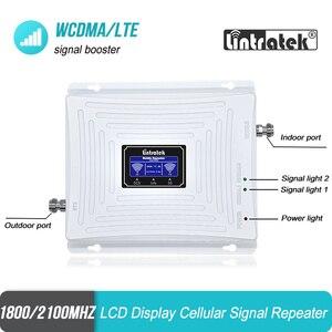 Image 3 - を Lintratek 3 グラム 4 グラム 1800 2100 携帯電話の信号ブースター DCS バンド 3 1800 WCDMA バンド 1 2100 ダブルバンドリピータ LTE アンプ 45