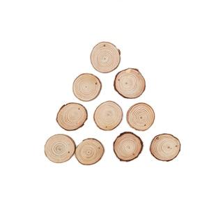 Image 5 - 100 قطعة 4 5 سنتيمتر شرائح الخشب الطبيعي لم تنته DIY بها بنفسك اليدوية الزفاف الحرفية الحلي لعيد الميلاد ديكور Diy بها بنفسك