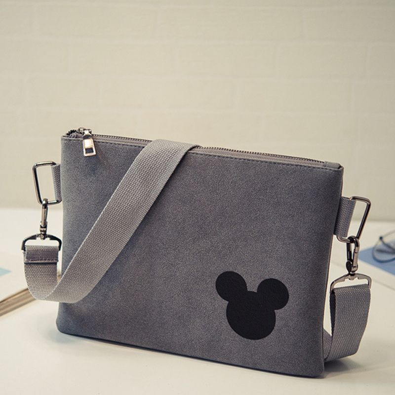 Bolsa Estilo Satchel : Women envelope messenger bag minnie mickey leather