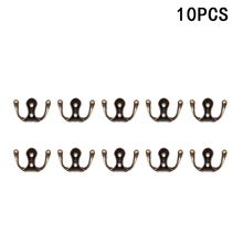 10pcs Zinc Alloy Storage Hook Vintage Wall Hanger Screw Hooks For Bathroom Kitchen Room Cloth Towel Rack Coat Hat Holder
