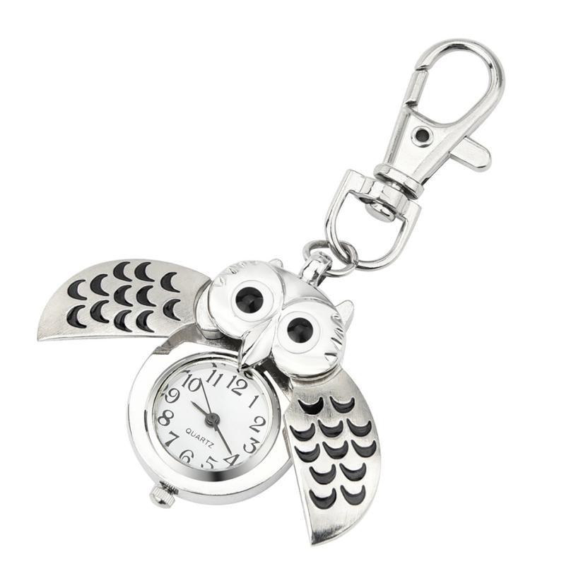 купить TZ#501 Fashion Retro Unisex Vintage double open Owl Pendant Antique Necklace Pocket Watch Gift High Quality Free Shipping онлайн