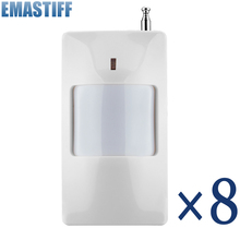 Free Shipping! 8 Pcs/lot 433Mhz Wireless PIR Sensor/Motion Detector For Wireless GSM/PSTN Auto Dial Home Security Alarm System
