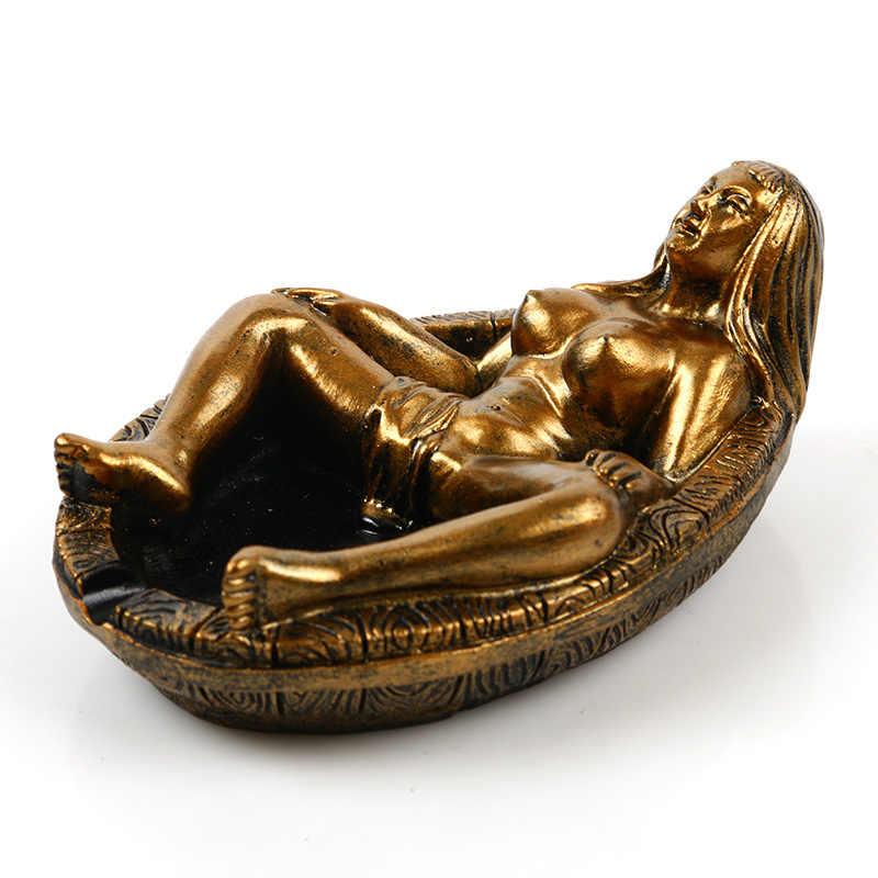 BUF Statue Per La Decorazione del Mestiere Della Resina Nude Nude Bellezza Statua Posacenere Creativo Decorazione Della Casa di Bellezza Posacenere