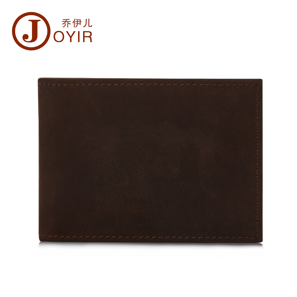 JOYIR 2016 NEW Men Genuine Leather Drive License Holder Crazy Horse Leather Credit Card Holder Fashion
