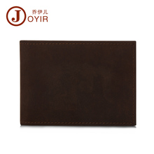 JOYIR 2016 NEW Men Genuine Leather Drive License Holder Crazy Horse Leather Credit Card Holder Fashion Solid Men Wallet K014