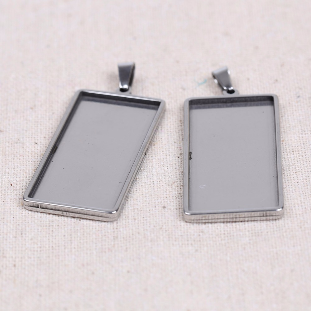 onwear 5pcs/lot 19x38mm dia rectangle cabochon base blank cameo settings diy metal pendant tray for jewelry making mibrow 10pcs lot stainless steel 8 10 12 14 16 18 20mm blank french lever earring tray cabochon setting cameo base jewelry