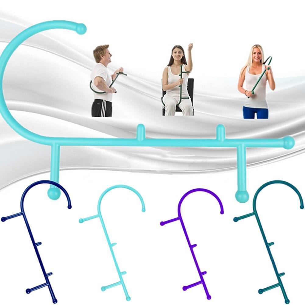 Neue Thera Zuckerrohr Zurück Haken Nackenmassagegerät Selbst Muscle Druckstock Werkzeuge Manuel Trigger Point Massage Stange BB55