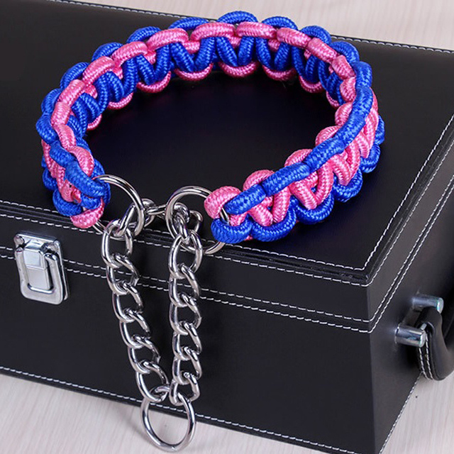 Adjustable Metal Dog Training Chain Collar 2