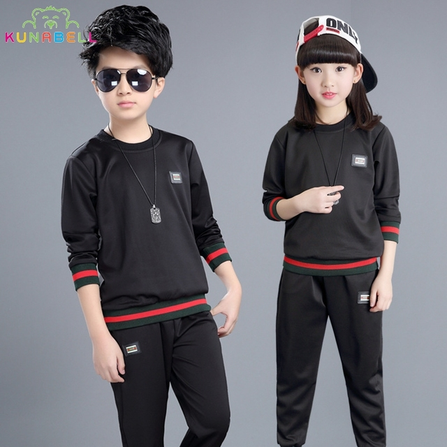 Children Clothing Sets Girls Boys High Quality Brand Tracksuits T-Shirts & Pants 2Pcs Sportswear Cotton Sports Suit Outfits H010