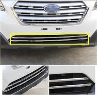 Abaiwai ABS Chrome Front Grille Grill Cover Trim For Subaru Outback 2014 2015 2016 2017 Car Styling Accessories 2pcs/set