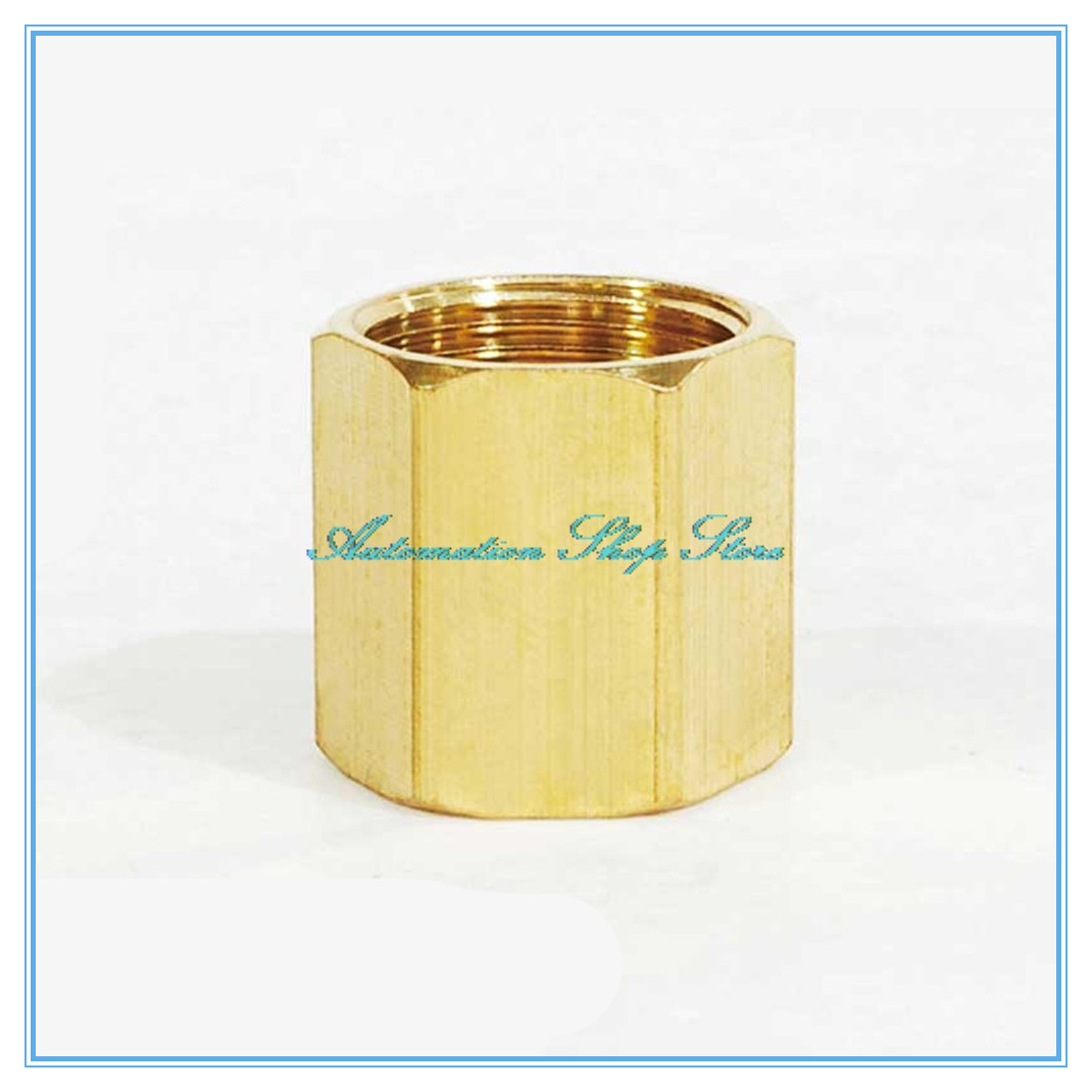 Brass Copper Hose Pipe Fitting Hex Coupling Coupler Fast Connetor Female Thread 1/8