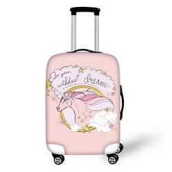 Coloranimal красочные лошадь Strecth Чемодан крышки чемодана Эластичный Защитный кожух с Zapper для 18-30 дюймов дорожный аксессуар