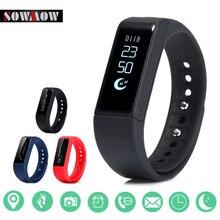 Sowmow I5Plus Смарт Браслет Bluetooth Водонепроницаемый Сенсорный экран фитнес-трекер Здоровье сна монитор Смарт часы Спорт