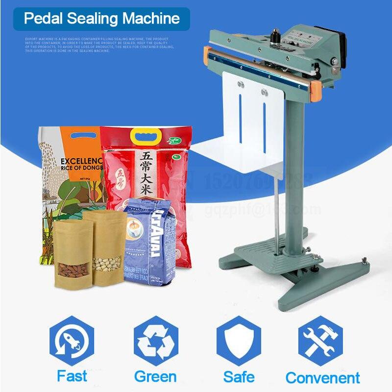 SHENLIN 110V 1 or 2 wire Pedal sealing machine bag impulse sealer aluminum foil package 350/450/650mm foot thick AL film sealer цена