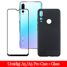 TRILANSER Glass + Case For Umidigi A5 Pro Soft silicone A 5 Back Cover Fast Delivery A5Pro