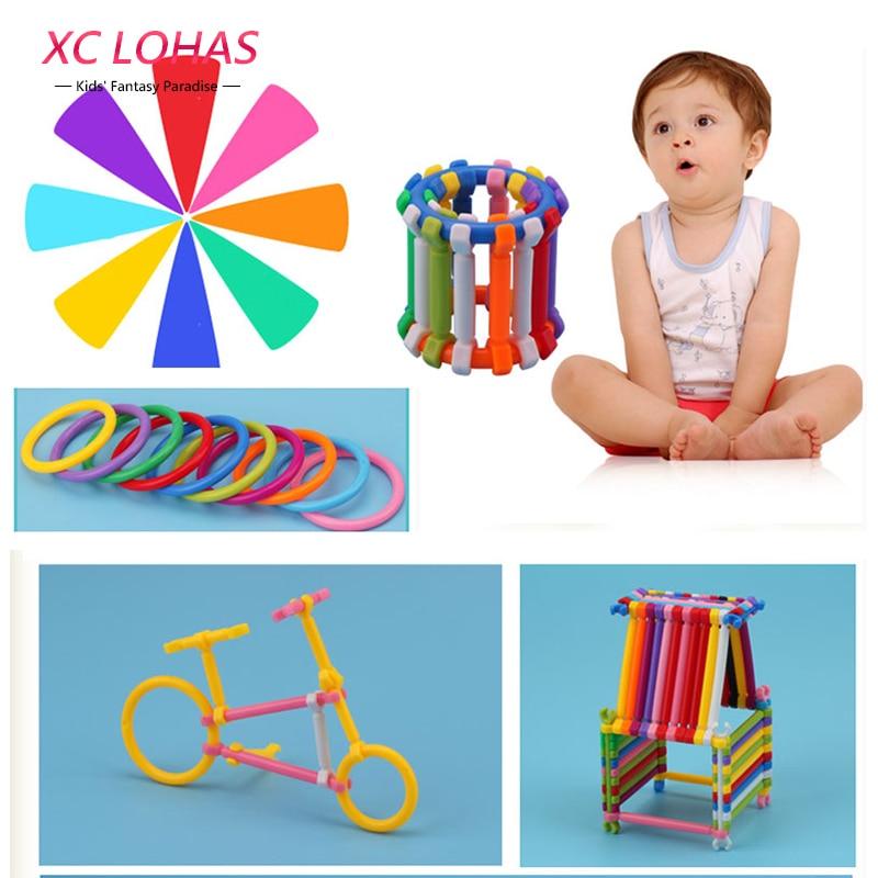 Children Plastic Building Blocks Cute Construction Toys Assembly Smart Sticks Creative Models & Building Toy Educational Toys construction