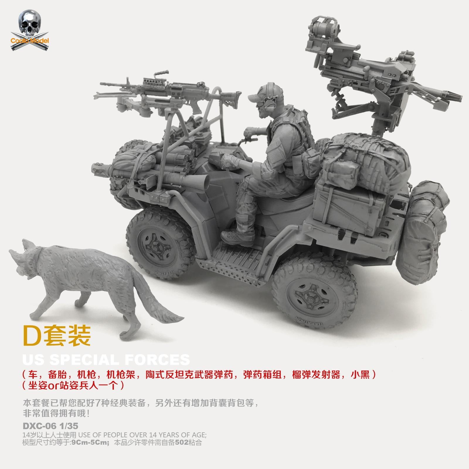 1/35 Resin Kits US Navy SEALs And Terrain Vehicles (D Set) Resin Model Self-asssembled DXC-06