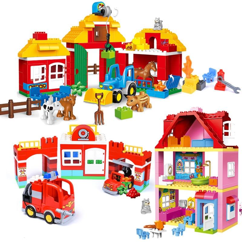Girl Princess Large Size Blocks Sets Compatible LegoINGlys Duploed Family House Bricks Bricks Building Blocks Toys For Children