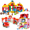 Классические большие строительные блоки для принцесс  семейный дом  строительные блоки  сделай сам  строительные кирпичные игрушки для дет...