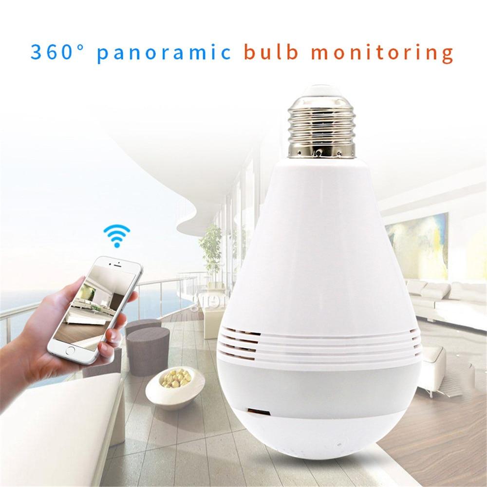 Lâmpada inteligente de Vigilância Sem Fio Da Câmera de Rede Wi-fi Do Telefone Remoto de Segurança Contra A Alta-definição de Visão Noturna Infravermelha