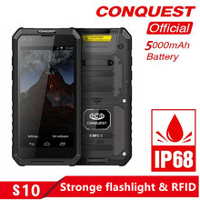 Get more info on the CONQUEST S10 IP68 Walkie Talkie Rugged Phone Add Strong Flashlight/Bar/QR Code/RFID/NFC and IoT Intelligent Handheld  Smartphone