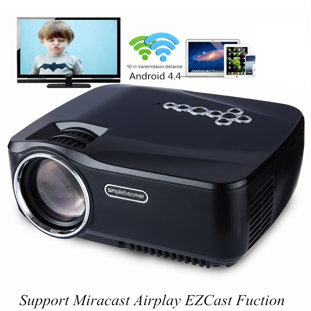 GP-70UP LED Projector Android 4.4 Tv box tv Full HD DLAN WIFI BT 3.0 Support Miracast Airplay EZCast Multilanguage Beamer GP70UP