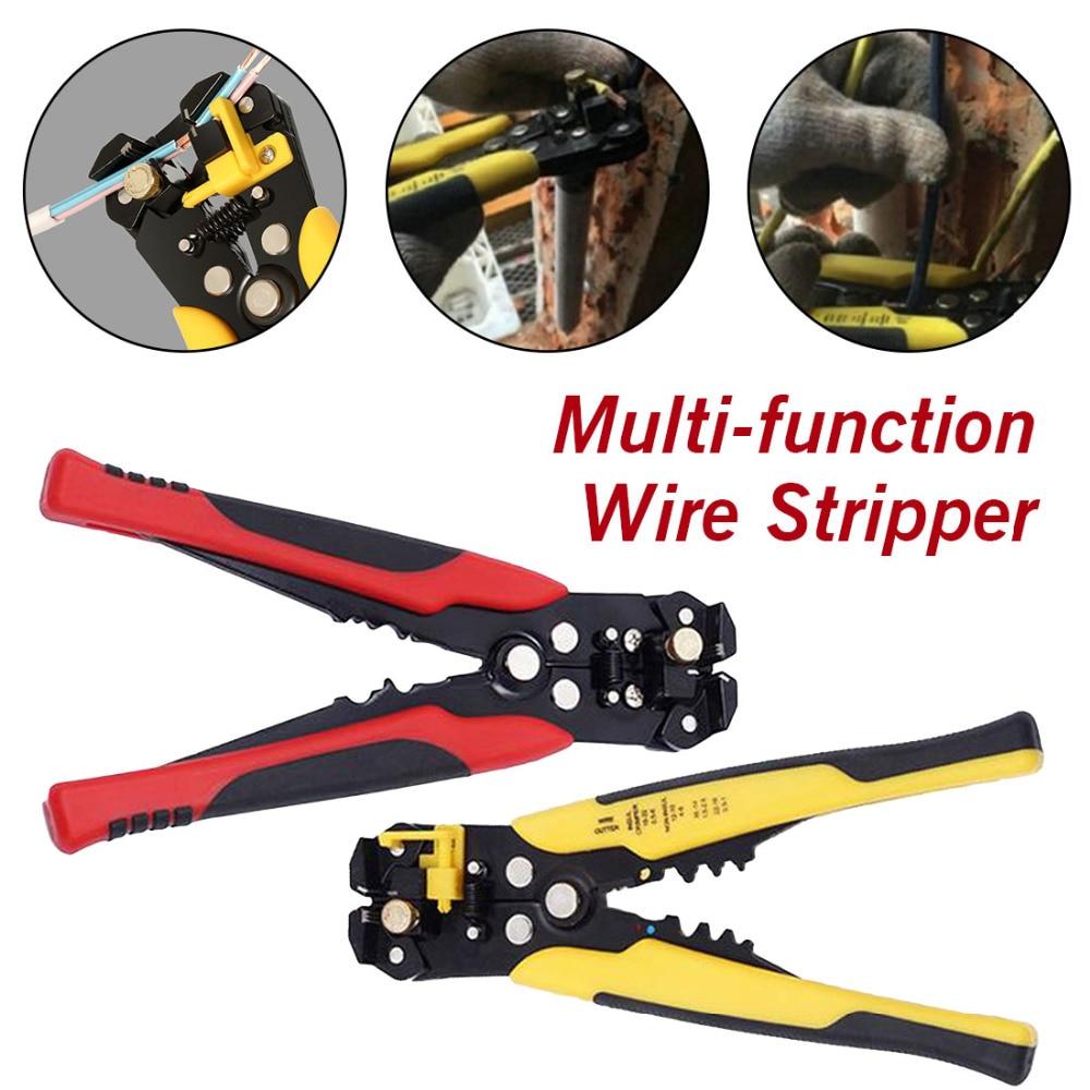Frank Werkzeug Stahl 0,2-6,0mm Kabel Draht Stripper Cutter Crimper Automatische Multifunktionale Tab Terminal Crimpen Abisolieren Zangen Werkzeuge Handwerkzeuge