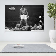Muhammad Ali Fighting Canvas Painting Wall Art Print Poster For Living Room Black And White Modern Cuadros Decoration