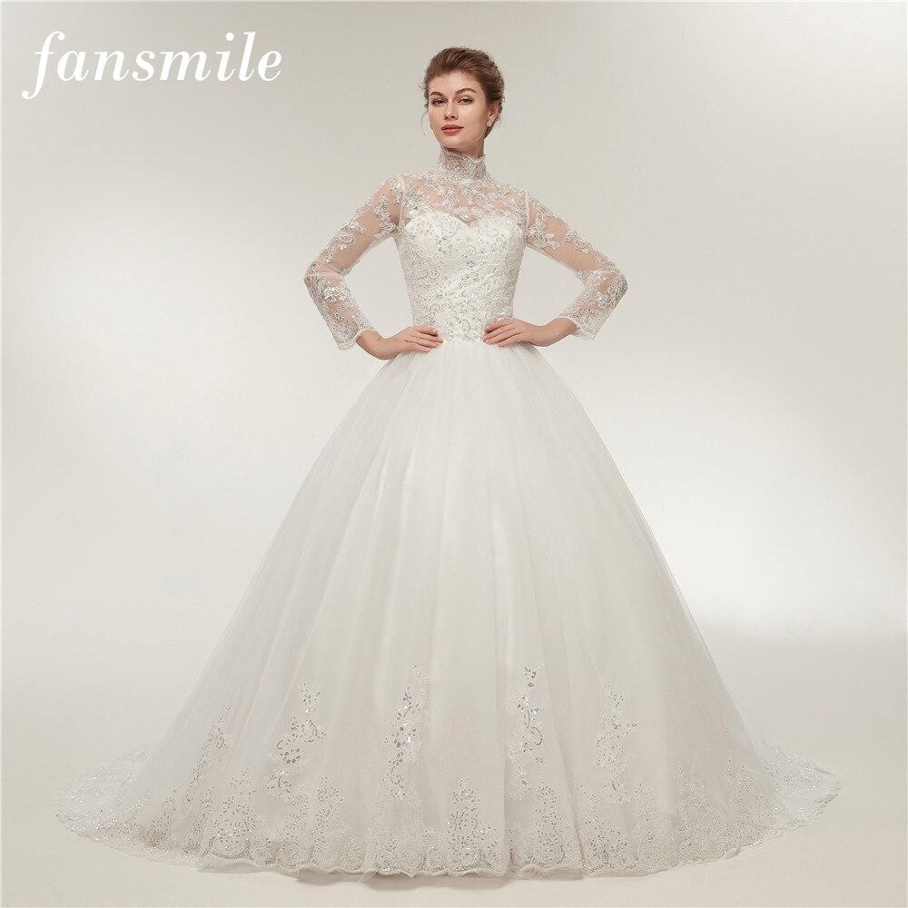 Real Retro Weddings: Fansmile Real Photo Simple Vintage Lace Wedding Dress Long