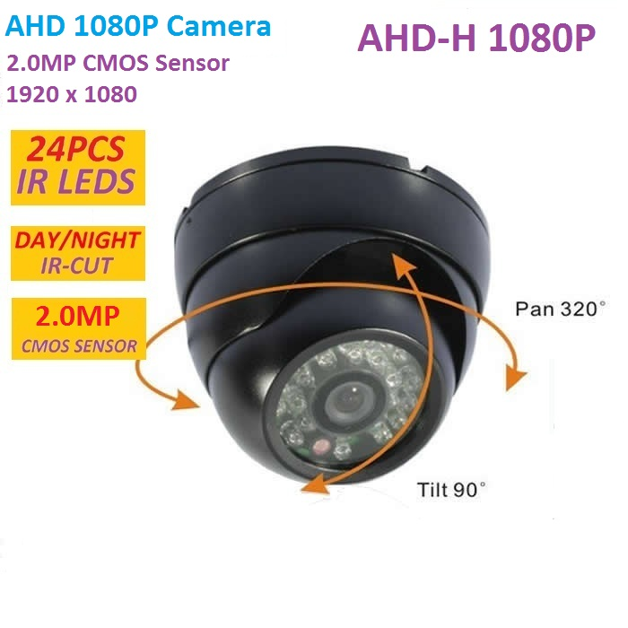 2MP CMOS CCTV AHD Camera 1080P AHD-H 3000TVL Security Surveillance Mini Dome Camera with IR Cut Filter Night Vision 1080P Lens aokwe 1080p 2mp ahd camera megapixels 3 6mm lens vandal proof ir dome ahd camera cctv security camera