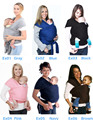 2016 Melhor Orgânica ergonômico Ajustável Portador de Bebê Recém-nascidos Mochilas Envoltório Rider Sling Multifuncional Respirável Multicolor