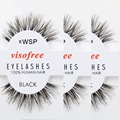 6 pairs/pack Visofree Eyelashes 100% Human Hair False Eyelashes Cross 3D Eyelash Extension Makeup Tools