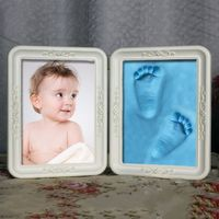 New Cute Exquisite Photo Frame Soft Imprint Clay DIY Baby Footprint Hand Print Cast Set Gift