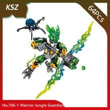 Bevle Store KSZ 706 1 64Pcs BIONICLE Series Warrior Jungle Guardian font b Model b font