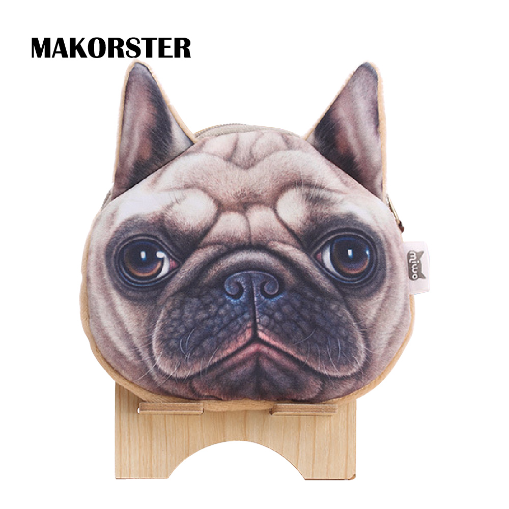 MAKORSTER Dog Cat Canvas Coin Wallet Cute Purse Pouchs For Travel Ladies Pouch Women Coin Purses Holders female bag MK114
