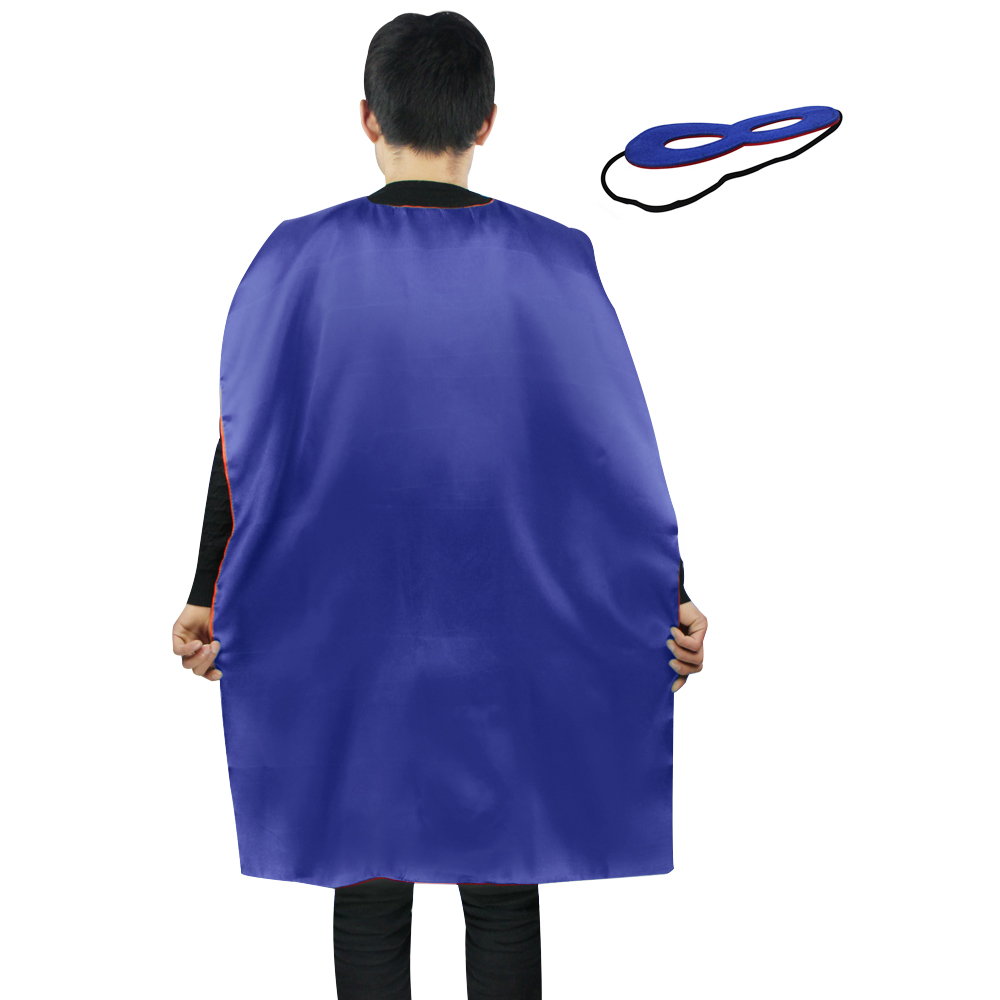 SPECIAL L 35* woman costume carnival plain cape mask Christmas birthday gift star cape blue cosplay dress