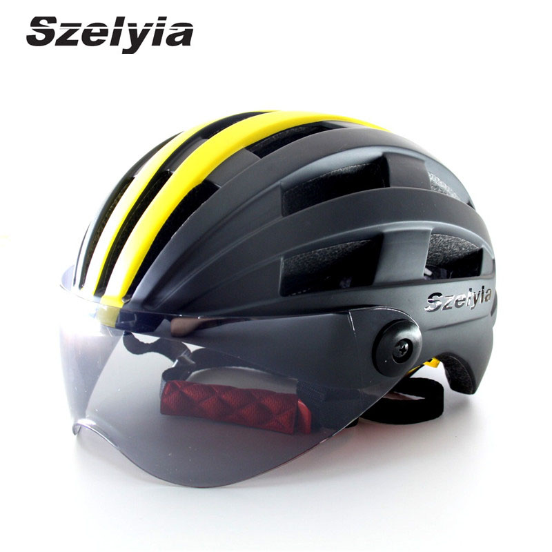 Bicycle Helmet Lens Visor Ultralight Cycling Helmet MTB Bike Helmet Sunglass Casco Ciclismo Casque Velo Route