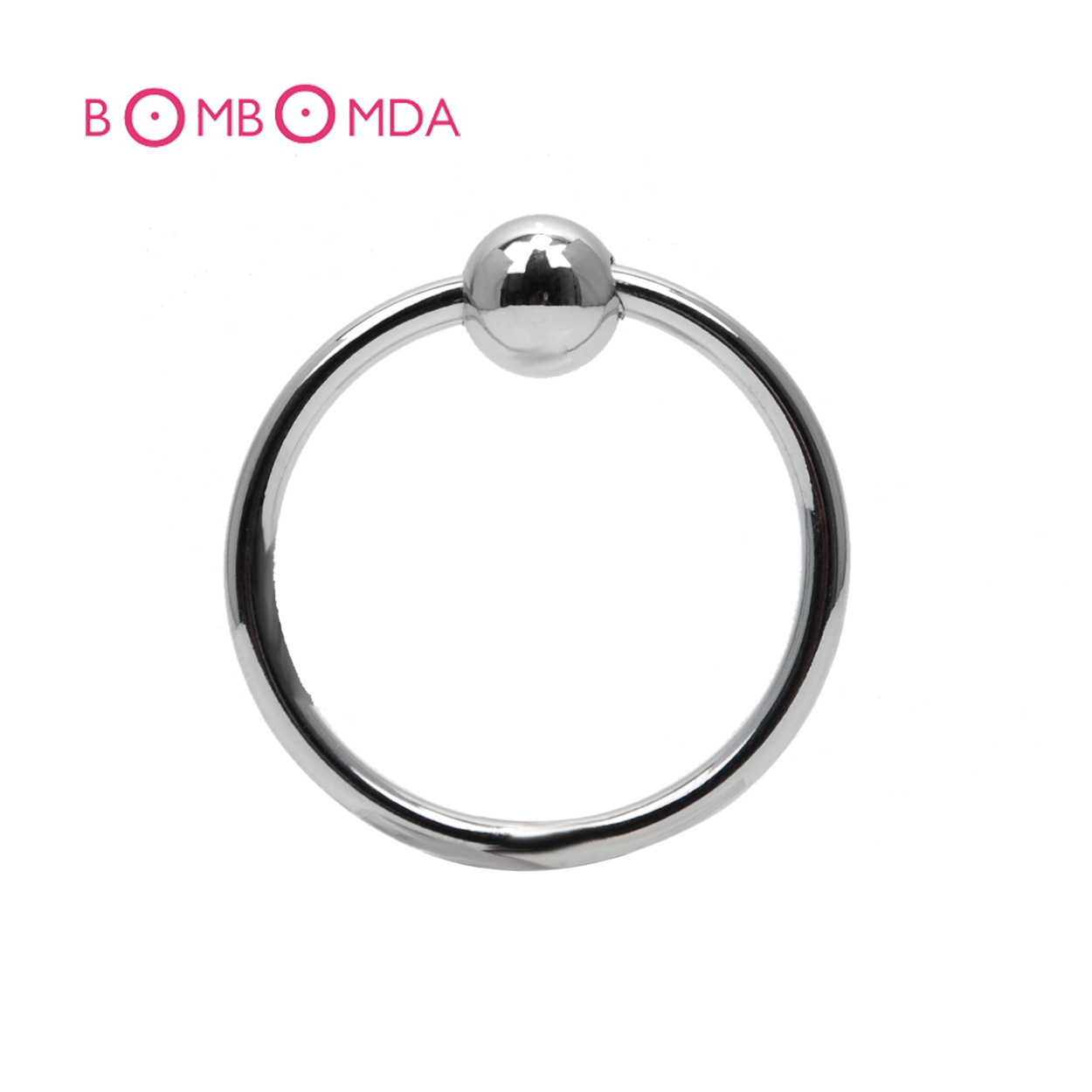 1pc Stainless Steel Penis Rings Bead Cock Ring Locking Penis Ring Sex Toys Adult Sex Products