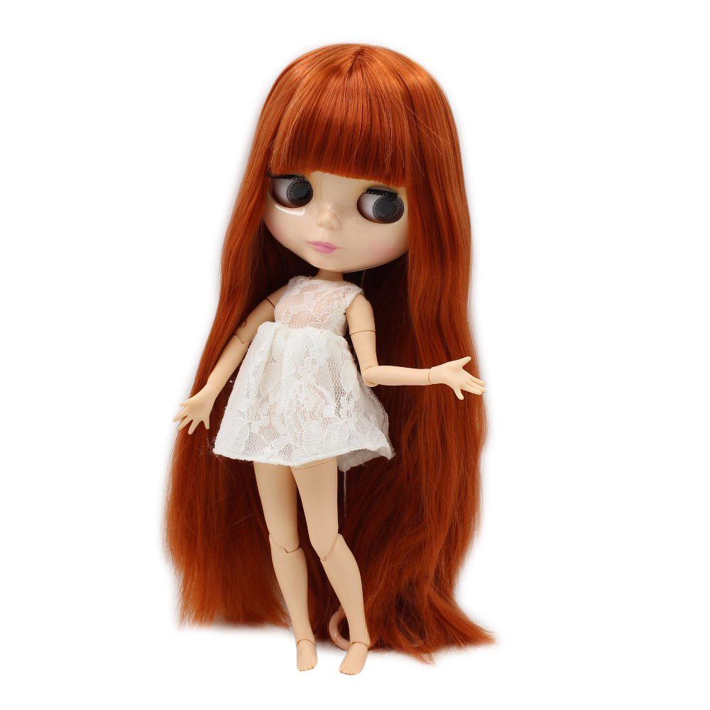 все цены на Factory blyth doll joint body natural skin Ginger straight hair with bangs bl232 BJD 1/6