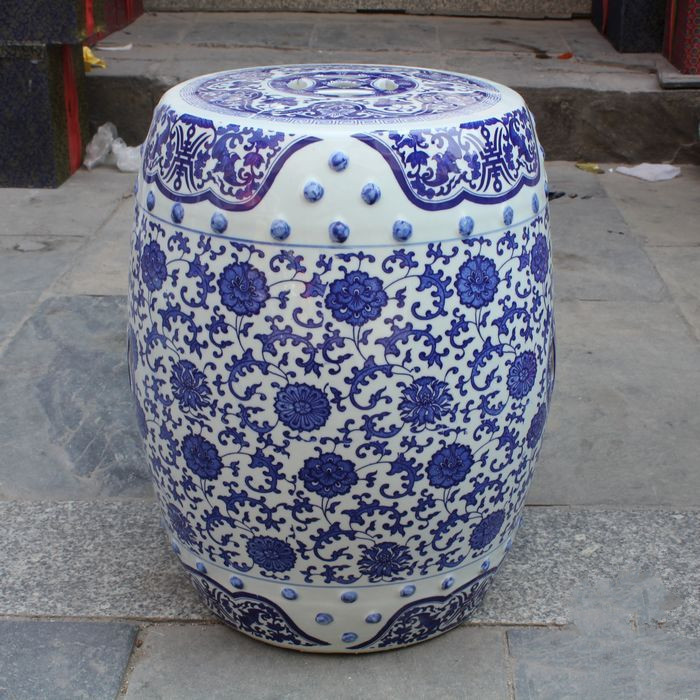 jingdezhen porcelain garden stool ceramic stool for dressing table drum chinese blue and white garden stools