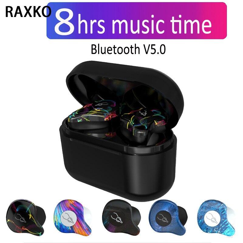 Bluetooth V5.0 Haute Qualité Casque Sans Fil Bluetooth Écouteurs Tws Écouteurs HIFI Musique Casque Écouteurs Pour iPhone Huawei