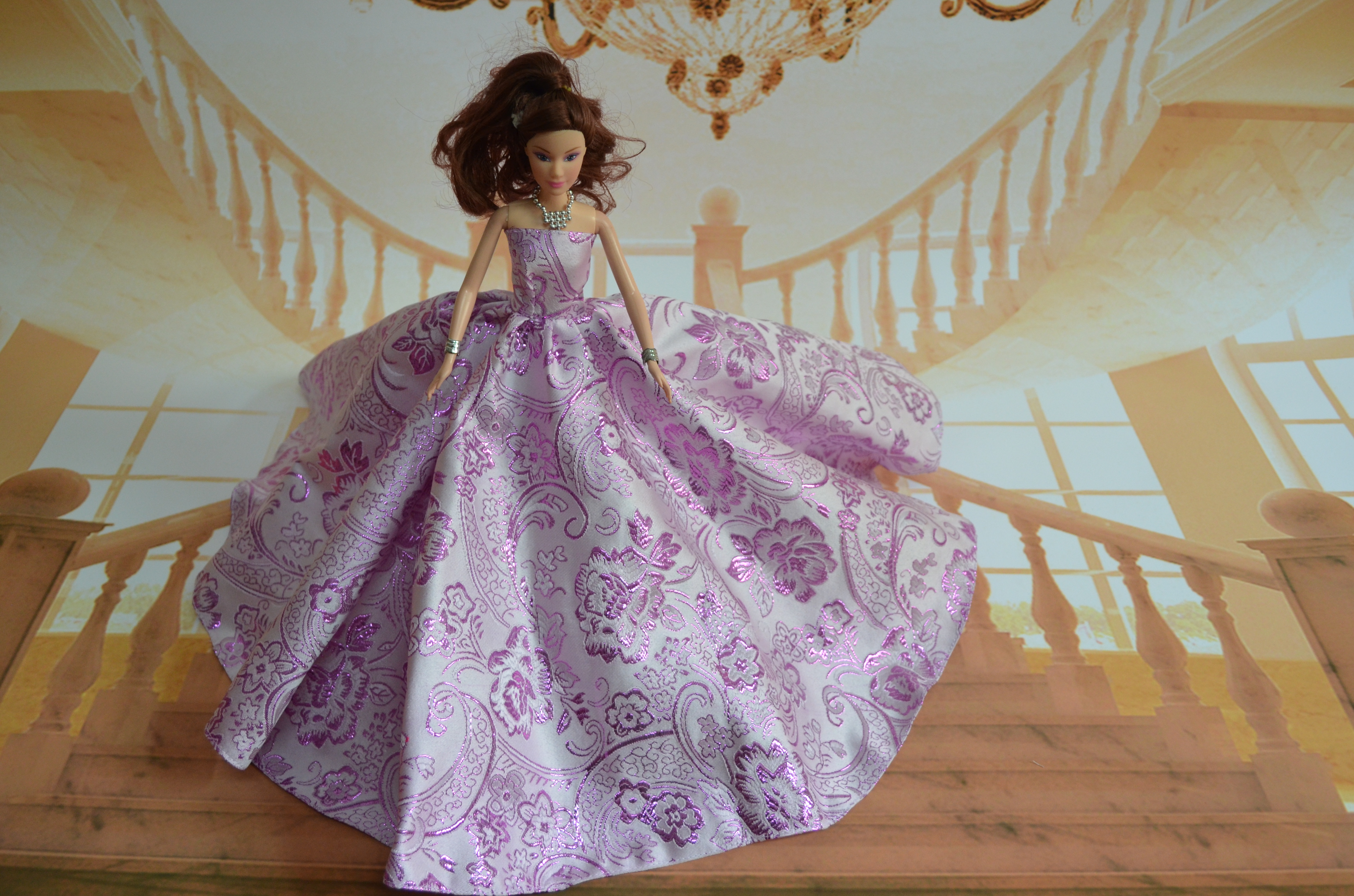 Genuine case for Barbie doll clothes new clothing apparel accessories fashion wedding dress oh princess dress