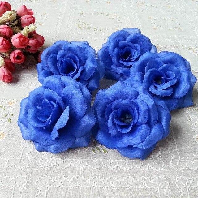 8cm dark blue color 10pcslot artificial rose silk flower heads 8cm dark blue color 10pcslot artificial rose silk flower heads decorative flowers for wedding mightylinksfo