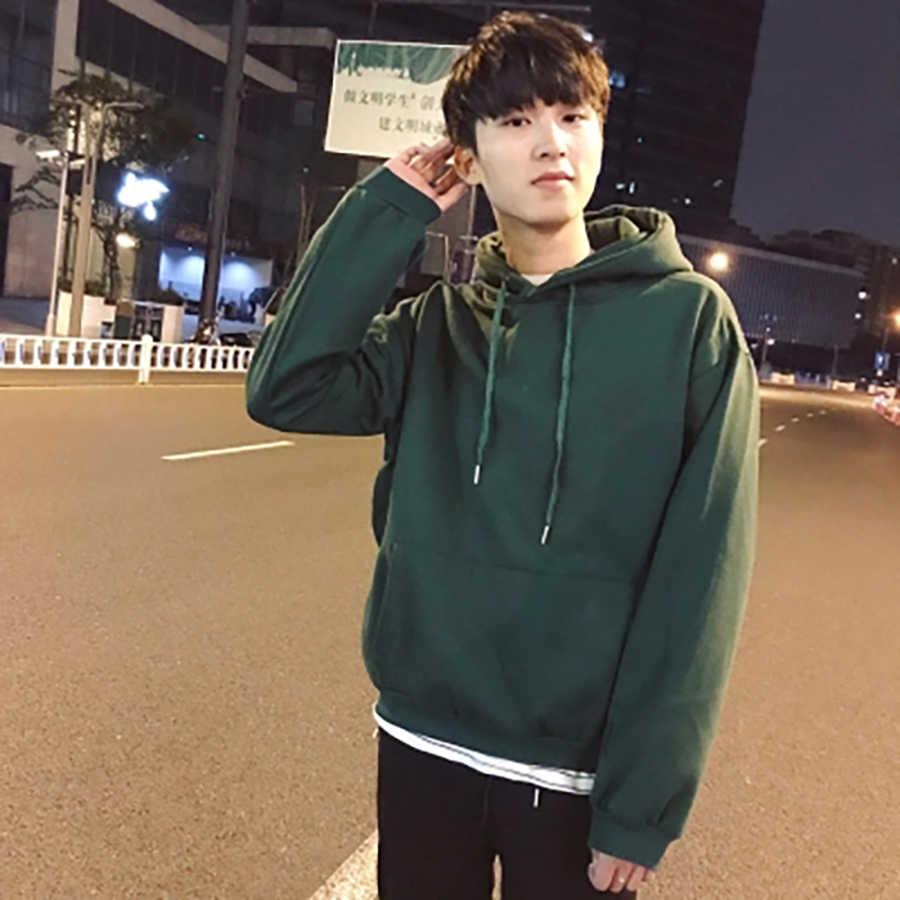 Мужские свитшоты Свободные повседневные круглые хип-хоп уличные зеленые толстовки с круглым вырезом Harajuku Sudadera Hombre мужская одежда 50WY098