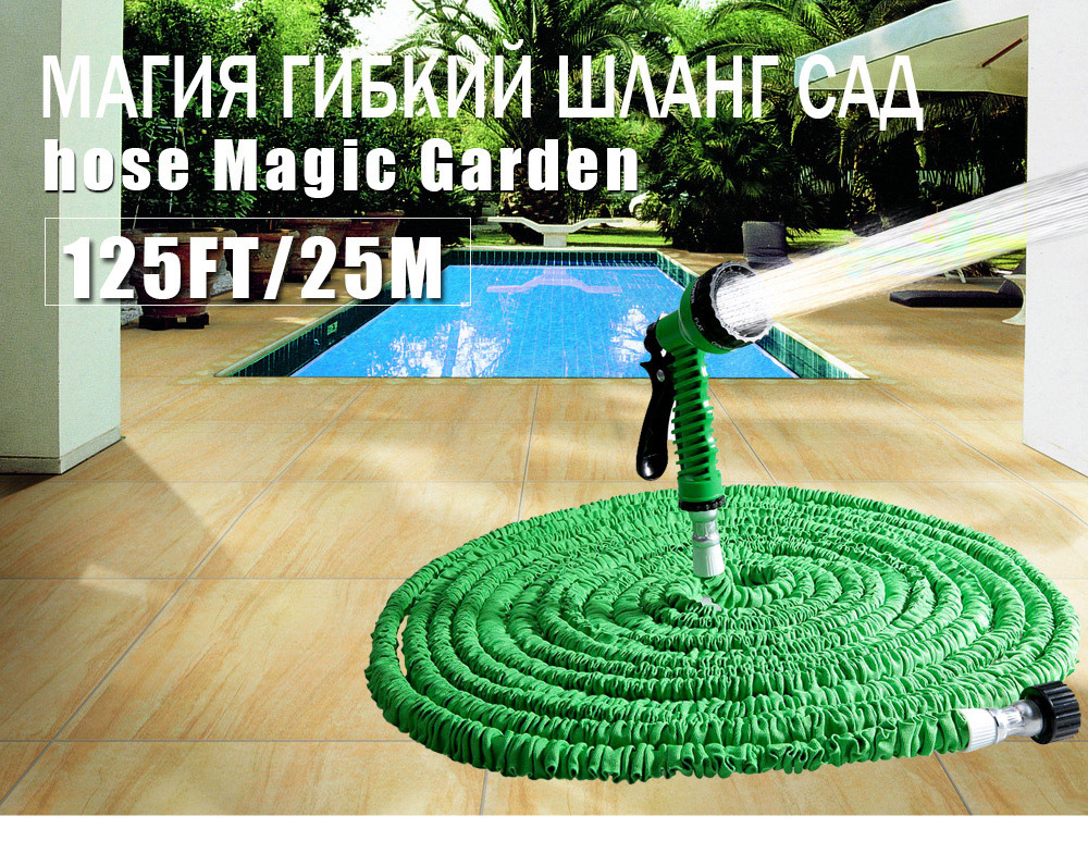 Hot Selling 25FT-200FT Garden Hose Expandable Magic Flexible Water Hose EU Hose Plastic Hoses Pipe With Spray Gun To Watering 125ft 7 modes expandable garden water hose pipe with spray gun