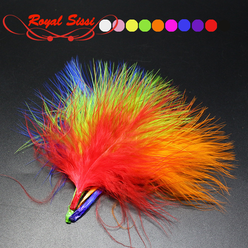 10Colors Turkey Marabou Blood Dyed Feathers Fly Fishing Tying Materials Isca Lures Making wooly Bugger flies body&tail material 5sheets pack 10cm x 5cm holographic adhesive film fly tying laser rainbow materials sticker film flash tape for fly lure fishing