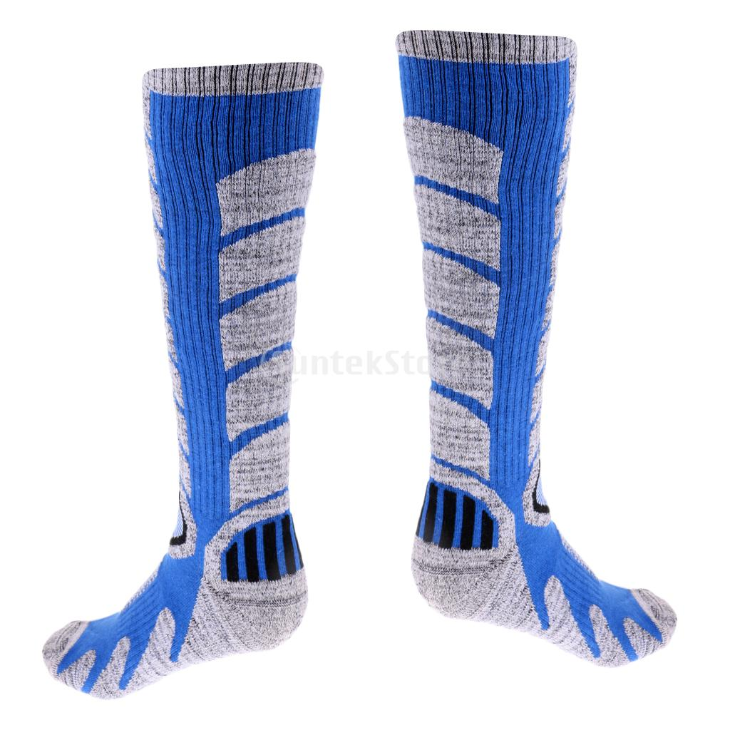 Men Sweat Absorbing Breathable Warm Sport Long Socks for Snowboarding Skiing Climbing Hiking