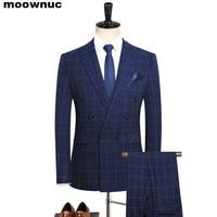 2019 new men's suits Business casual Boutique three piece set suit Men double breasted The banquet dress classic men's suit